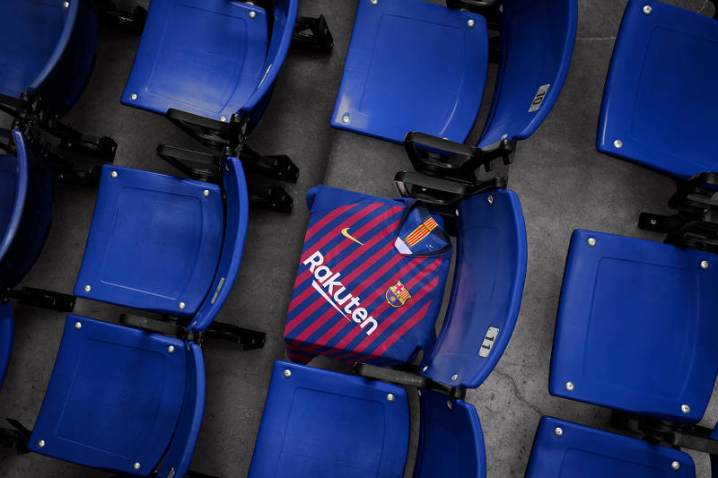 Nike Football Unveils FC Barcelona 2018 2019 Home Kit Andres Iniesta Regions Neighborhoods Barrios La Liga Champions League Lionel Messi Release Information Details News Phillipe Coutinho Gerard Pique Sergio Busquets Sergi Roberto