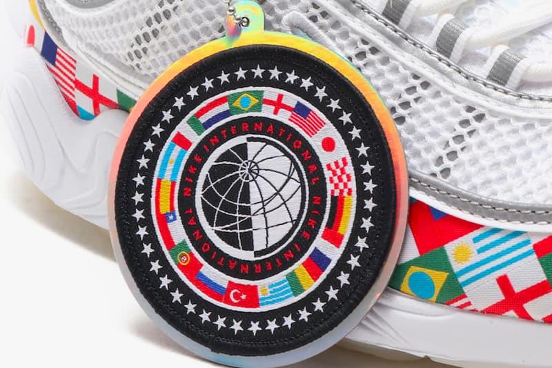 Nike Air Max Plus Air Max 90 Air Zoom Spiridon Flag Pack Detailed Look international flags countries white sneakers release date