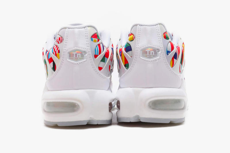 Nike Air Max Plus Air Max 90 Air Zoom Spiridon Flag Pack Detailed Look international flags countries white sneakers release date