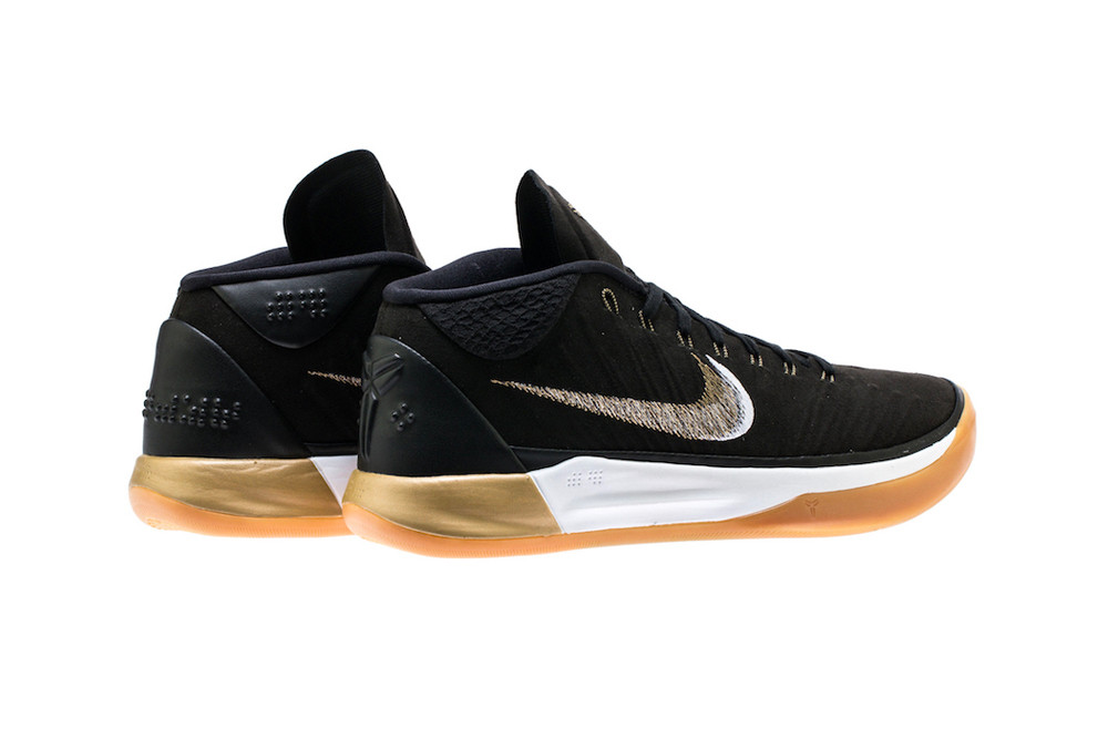 Kobe A.D. Mid in Black/Gold/Gum