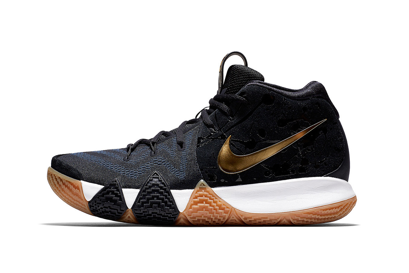 kyrie 4 red and gold