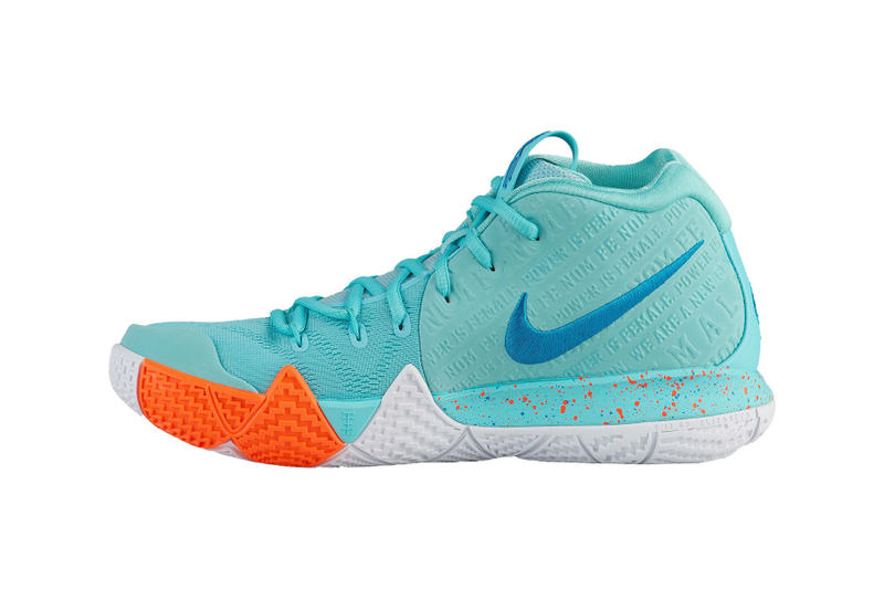 Nike Kyrie 4 Power is Female release date light aqua neo turquoise 2018  june nike basketball 1a6e7d724