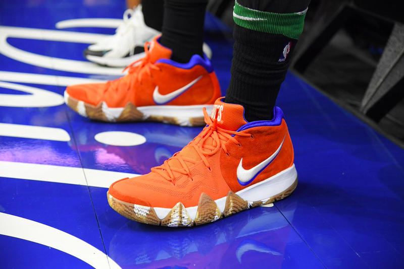 Nike Kyrie 4 Wheaties Jayson Tatum on feet NBA basketball boston celtics court release date
