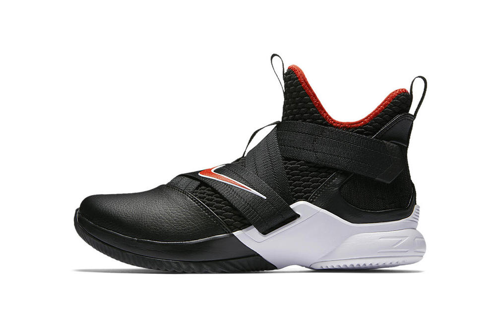 Nike LeBron Soldier 12 Bred black red AO4053 001 may 18 2018 release date info drop sneakers shoes footwear cleveland cavaliers cavs