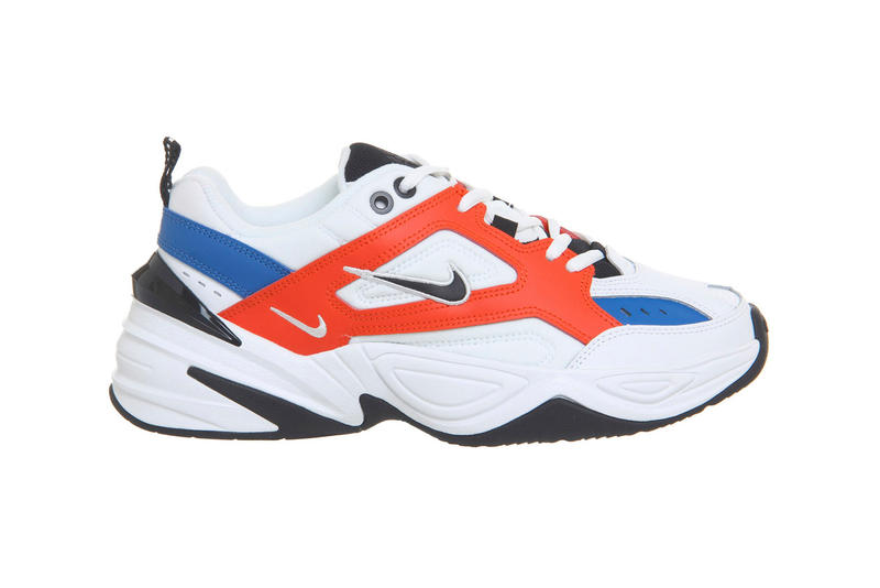 857daf6bf634 Nike M2k Tekno White Blue Red Release Details John Elliott 2018 Sneakers  Kicks Trainers
