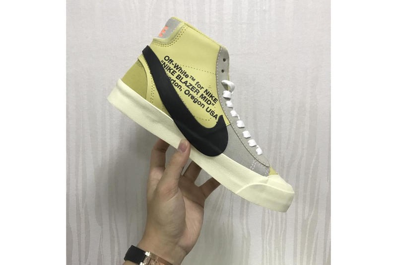 Virgil Abloh Nike Blazer Studio Mid Release info off-white sneakers footwear collaboration black grey vanilla