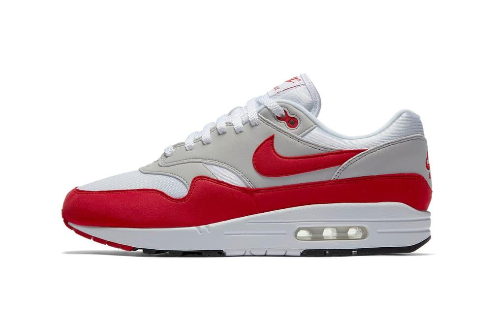 Nike Air Max 1 OG white university red release date 2018 june nike sportswear footwear