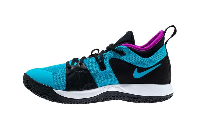 Nike PG2 Blue Lagoon Hyper Violet White release info paul george sneakers footwear