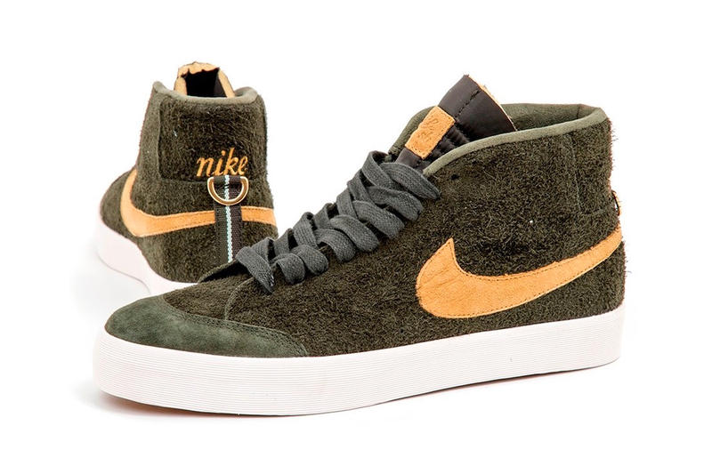 WE CLUB 58 Nike SB Zoom Blazer Mid suede Sequoia flight gold release info sneakers footwear