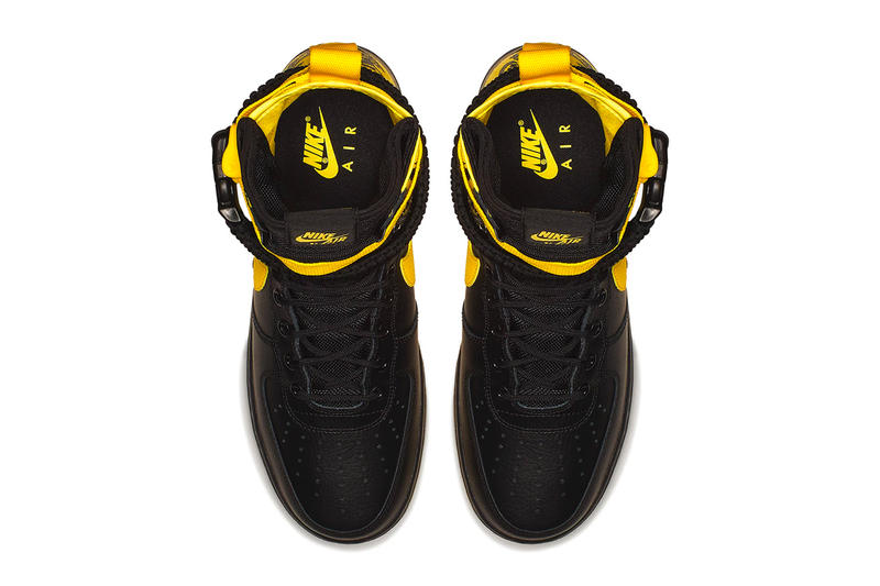 Nike SF-AF1 High Black Dynamic Yellow leather ballistic nylon sneakers footwear