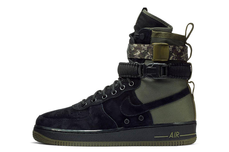 Nike SF AF1 Camo Strap olive black may 2018 release date info drop sneakers shoes footwear
