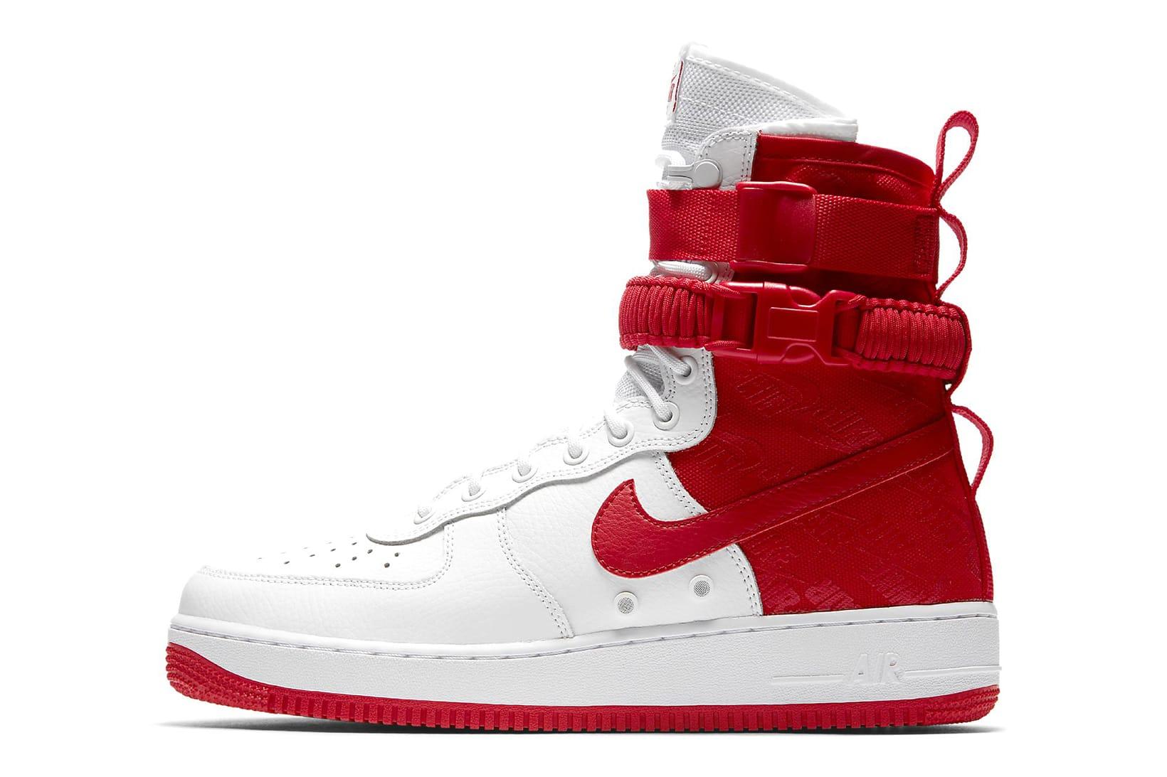 Nike SF-AF1 High White/University Red