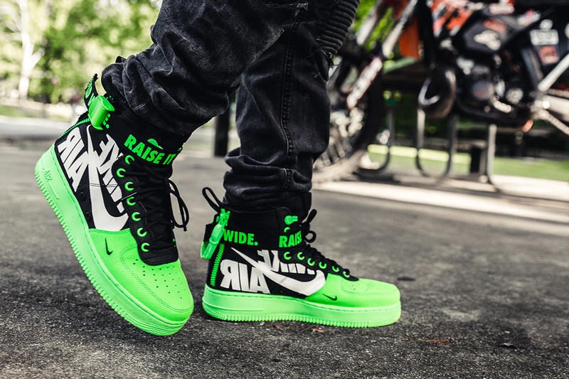 nike sf af1 mid 12 o clock boys green