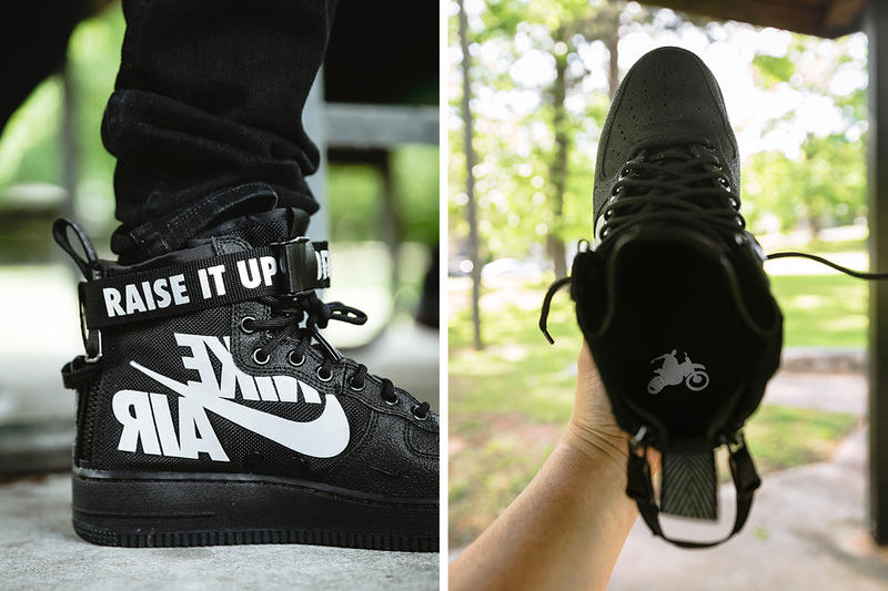 nike sf af1 mid 12 o clock boys black