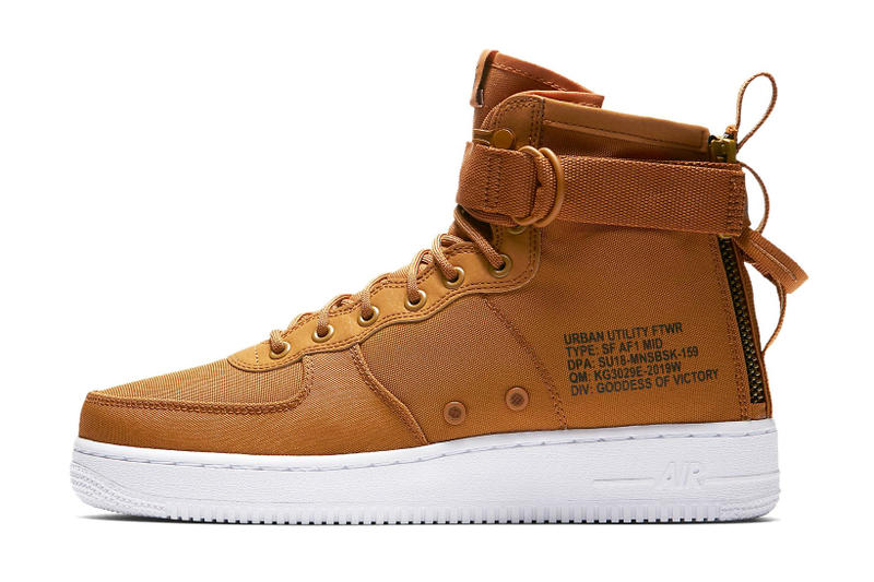 competitive price 8d0d4 b9d96 Nike SF AF1 Mid Desert Ocre Yellow Mustard Timberland Release Info Date  Drops Air Force 1