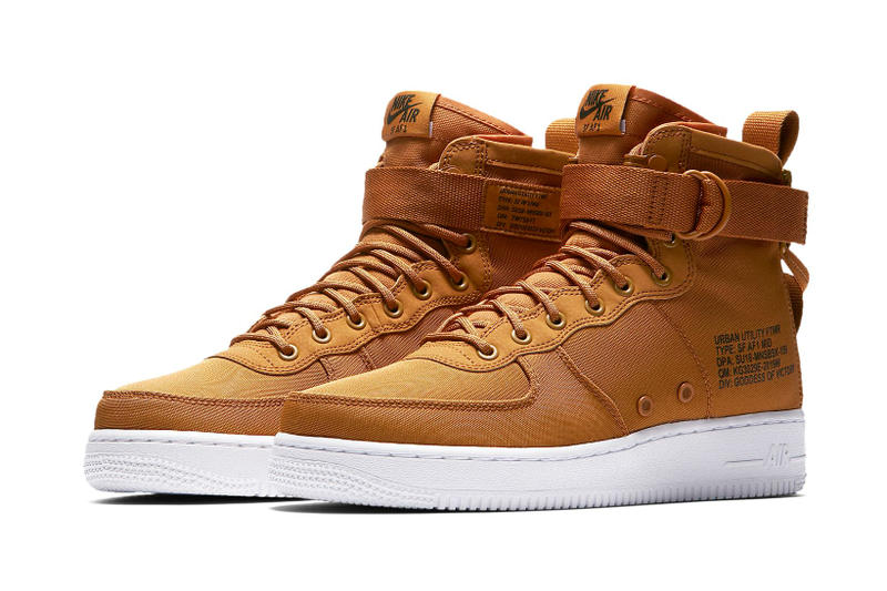 Nike SF AF1 Mid Desert Ocre Yellow Mustard Timberland Release Info Date Drops Air Force 1