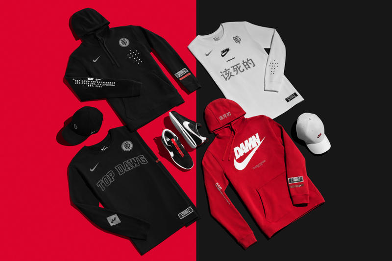 Nike Top Dawg Entertainment TDE Partnership Kendrick Lamar Championship Tour Nike Cortez Shirts Hoodies Caps Hats