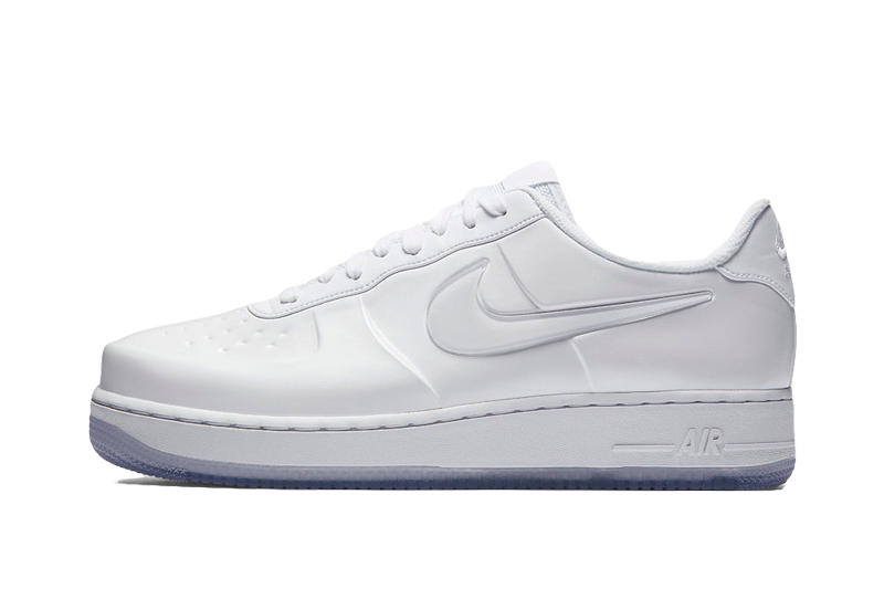 134c2bfebdc24 Nike Air Force 1 Foamposite Pro Cup Triple White embossed logo translucent  Swoosh Leather May 26