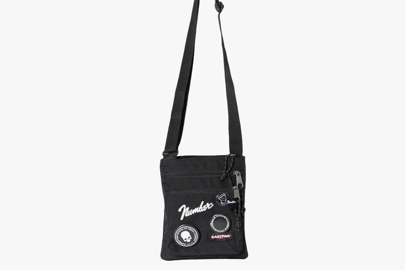 number nine (N) eastpak collaboration bags backpack shoulder bag sacoche fanny pack waist fender button guitar pick