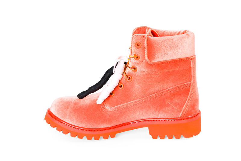 Off White Timberland 6 Boots Orange Release Virgil Abloh