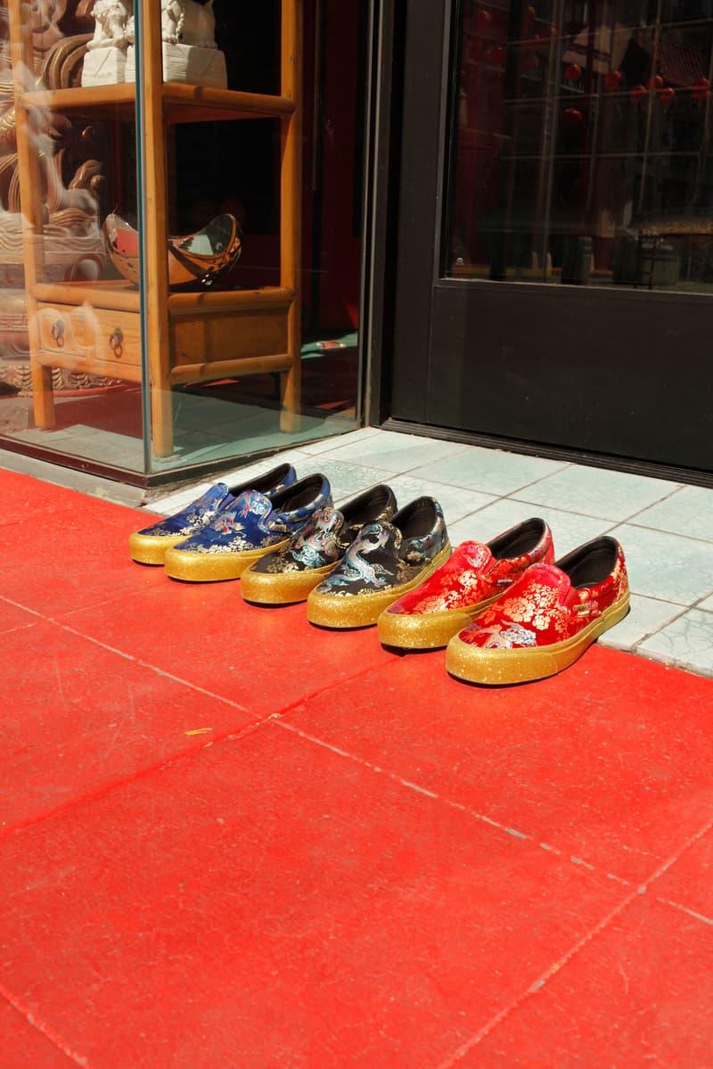 2d692e99049 Opening Ceremony Vans Classic OG Slip On LX Good Luck Pack Dragon Glitter  Sneakers