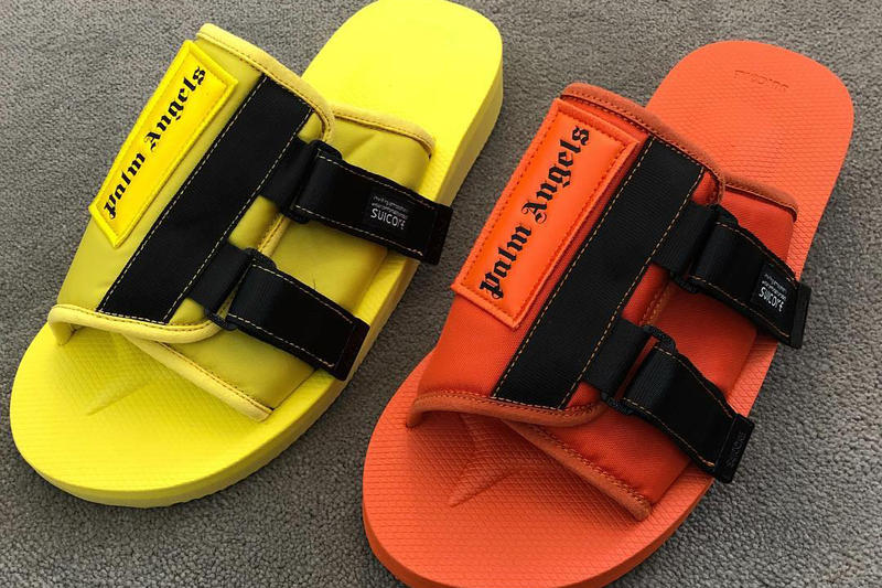067045e98acc Palm Angels Suicoke Spring Summer 2019 Slides Teaser first look orange  yellow black release date info