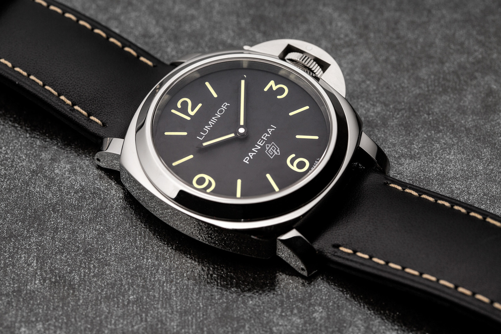 Panerai Introduces Luminor Logo Series watch chronograph hand-wound italian sports stainless steel