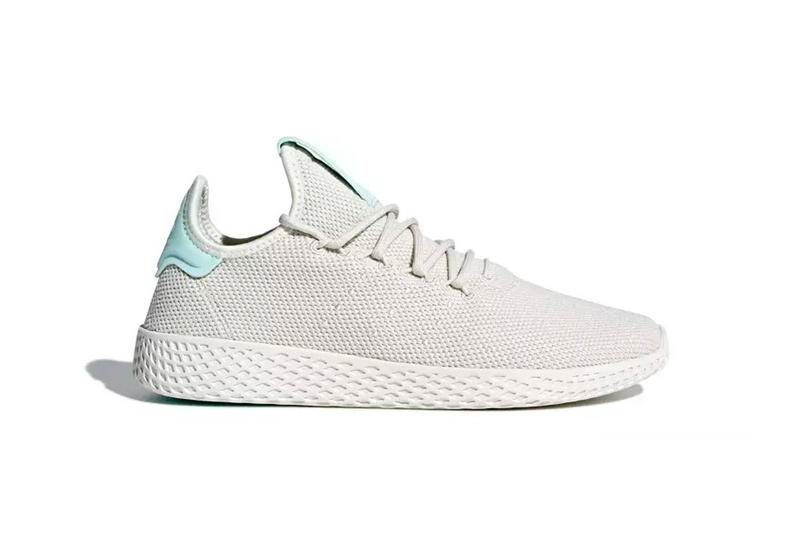 adidas Pharrell Tennis Hu Icey Pink Aero Blue Talc Release Date footwear june 2018 pharrell williams