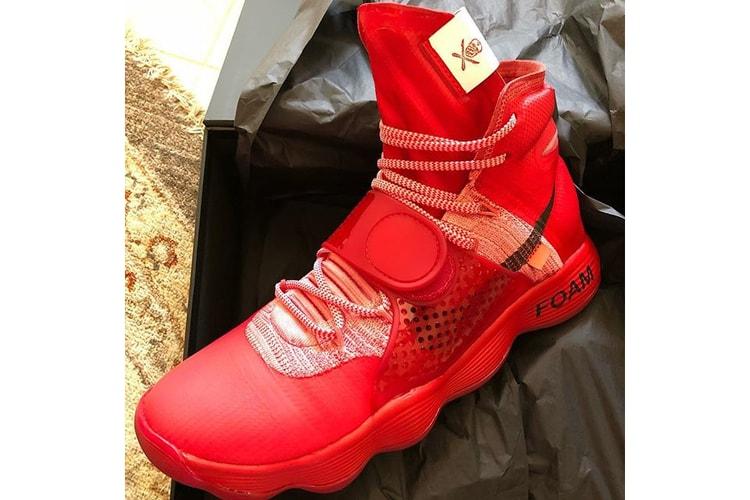 23a46e00c39c P.J. Tucker Shares Virgil Abloh x Nike Hyperdunk Customized by The Shoe  Surgeon