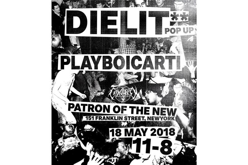 Playboi Carti Patron of the New Die Lit pop-up shop may 18 2018