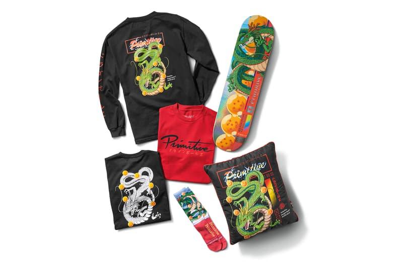 Primitive Skateboarding Dragon Ball Z Collection Official Merch merchandise collection collab Shenron