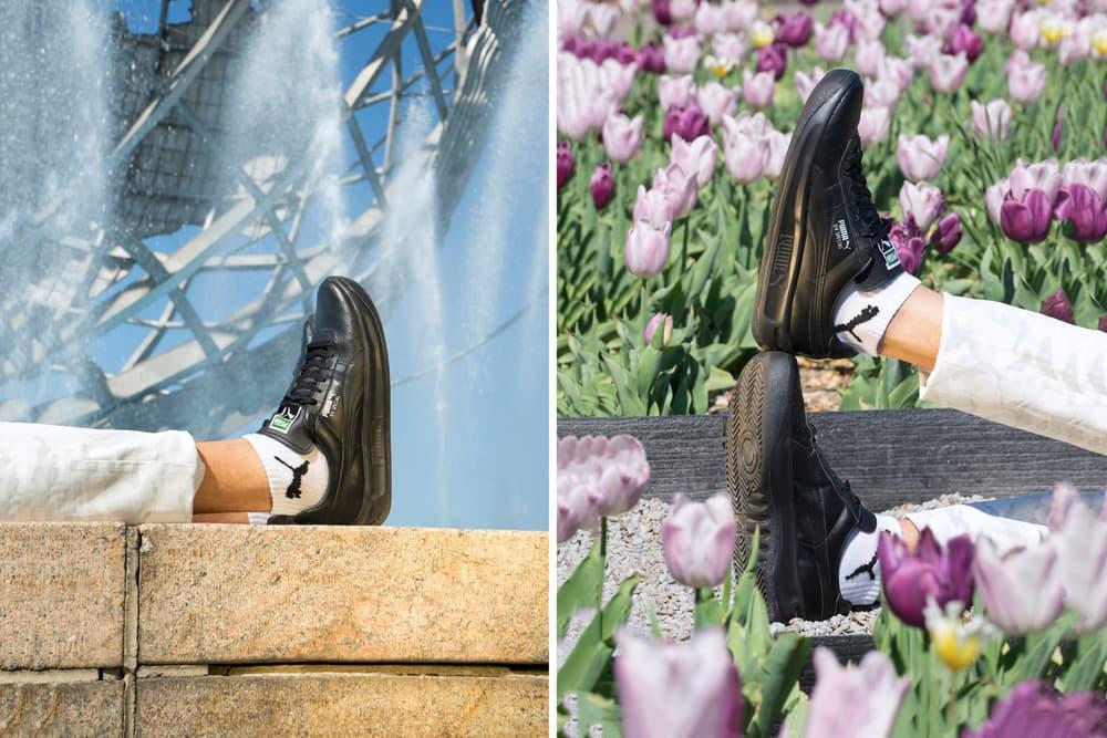 PUMA GV special sneakers footwear tonal black white german guillermo vilas tennis