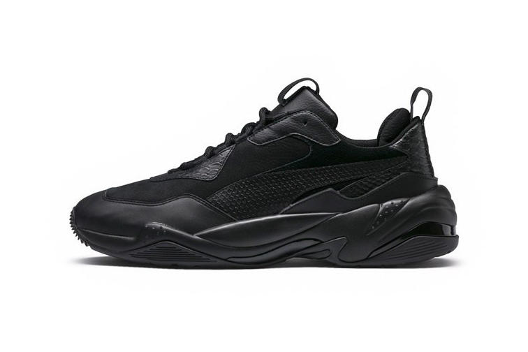 PUMA Thunder Spectra Triple Black All Black First Look Sneaker Dad Shoe August 1 2018 release date info