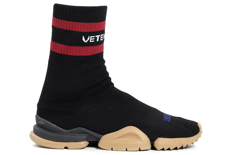 Vetements x Reebok Fall/Winter 2018 Sneaker Release Details Black White Red Colorways Date Price Purchase Instapump Monogram Fury Sneakers Metal Classic Sock Sneakers