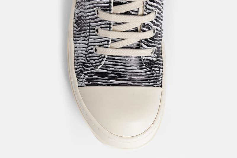 Rick Owens DRKSHDW Rubber Low Zebra sneaker release info spring summer 2018