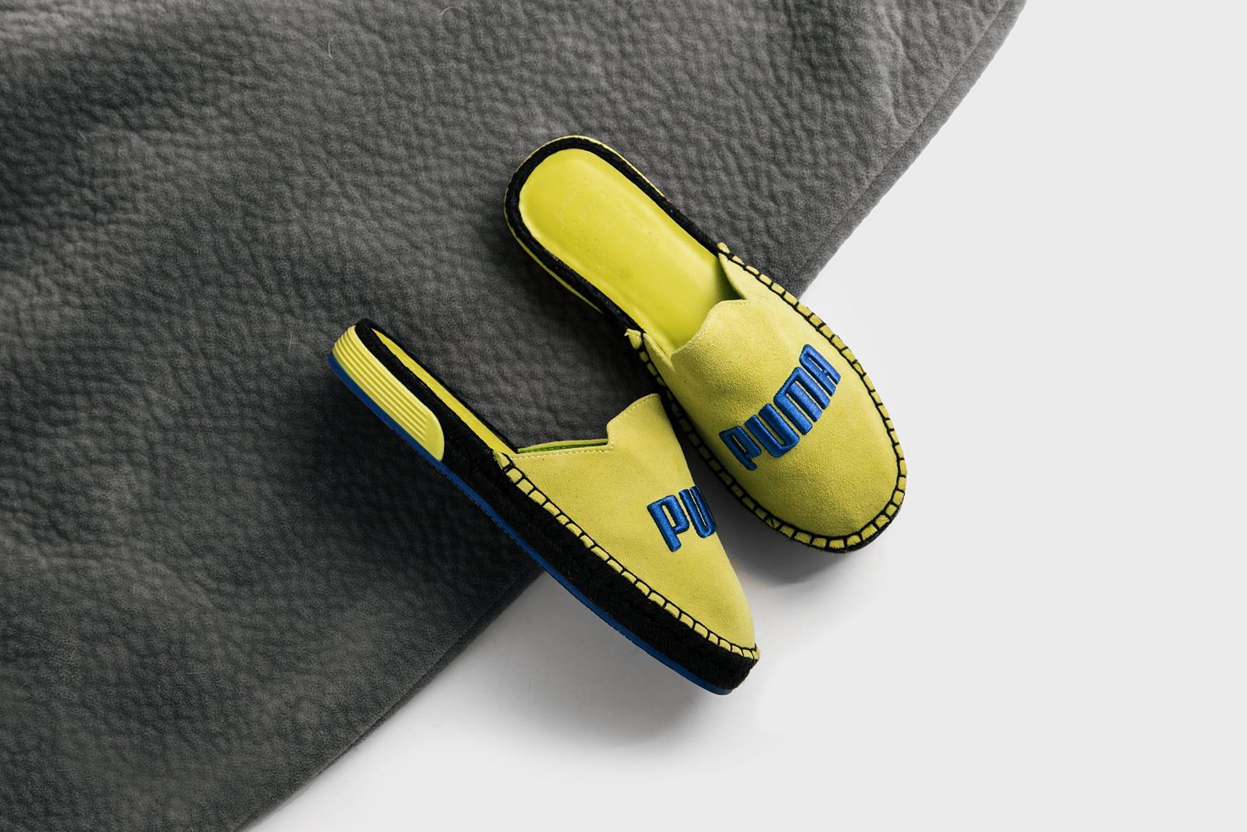 yellow puma slides