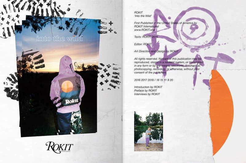 ROKIT Spring Summer 2018 Into The Wild collection lookbook release info Jon Krakauer book hoodies track pants shorts T-shirts
