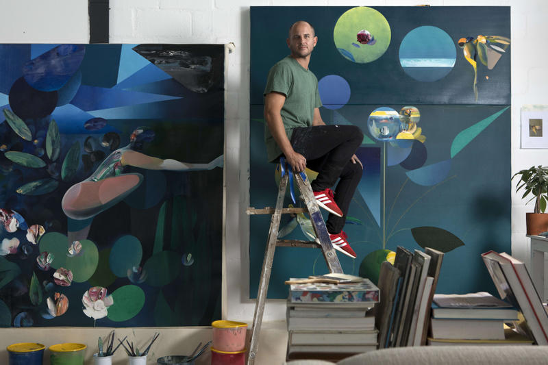 ryan hewett the garden unit london exhibition artworks art paintings