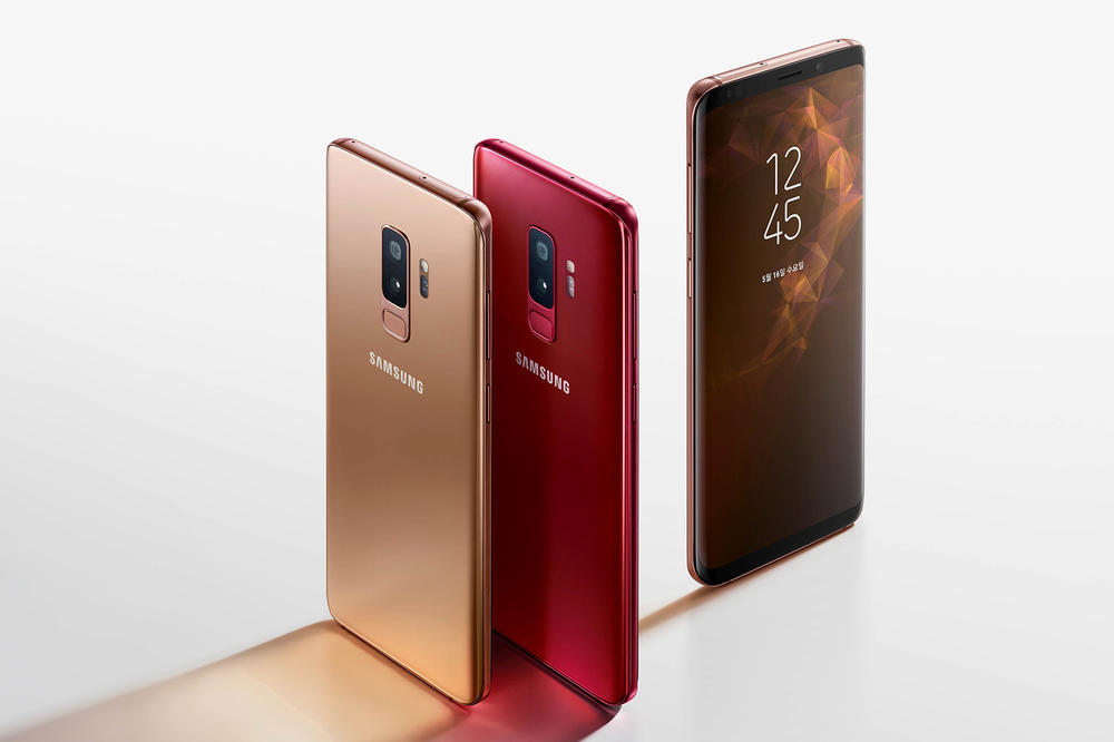 Samsung Galaxy S9 Plus Sunrise Gold Burgundy S9+ phone new colors release date info drop