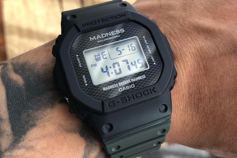 Shawn Yue MADNESS G SHOCK Collaboration first look teaser watch casio breed madness colorway limited