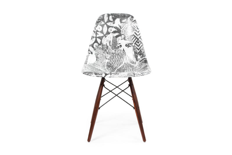 Shepard Fairey Modernica Side Shell Dowel Chair collaboration