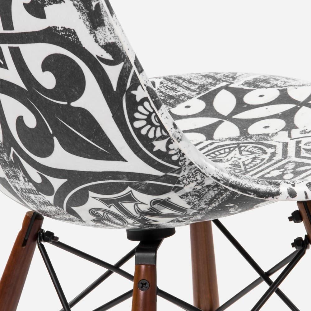 Shepard Fairey Modernica Side Shell Dowel Chair collaboration