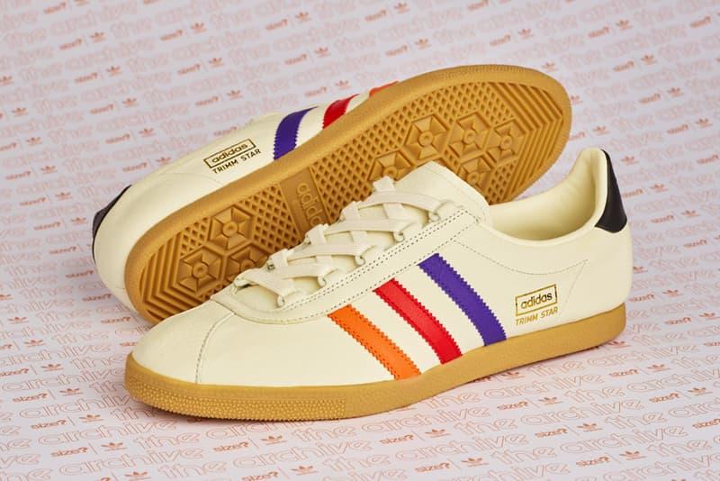 "size? adidas Originals Trimm Star ""VHS"" black release date info exclusive sneaker retro"