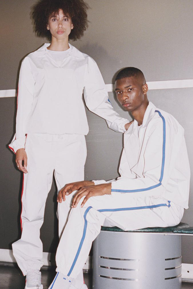 Skepta MAINS Collab Collaboration Collection Release Details June 1 Purchase Cop Available White Red Blue Tracksuits Trackpants Jackets