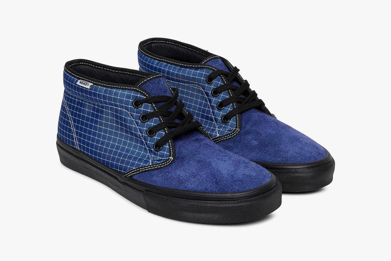 Starcow Vans Vault Chukka LX Old Skool Lite LX may 2018 release date info dtop sneakers shoes footwear blue black collaboration paris windowpane check grid