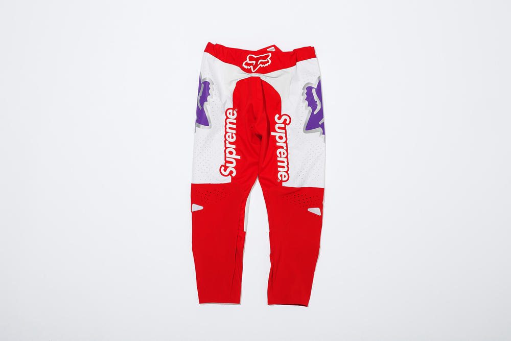 Supreme x Fox Racing Moto Pant Red Front