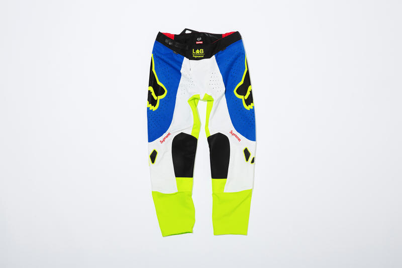 Supreme x Fox Racing Moto Pant Blue Front