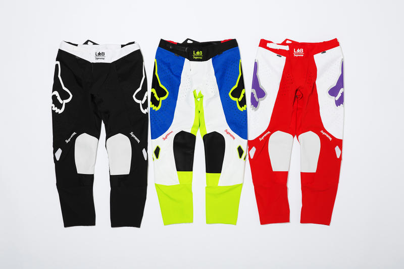 Supreme x Fox Racing Moto Pant Front Group