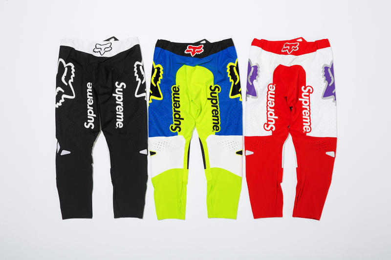 Supreme x Fox Racing Moto Pant Back Group