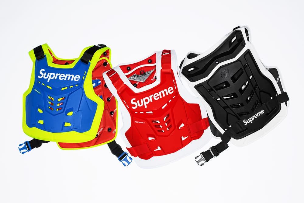 Supreme x Fox Racing Proframe Roost Deflector Vest Group